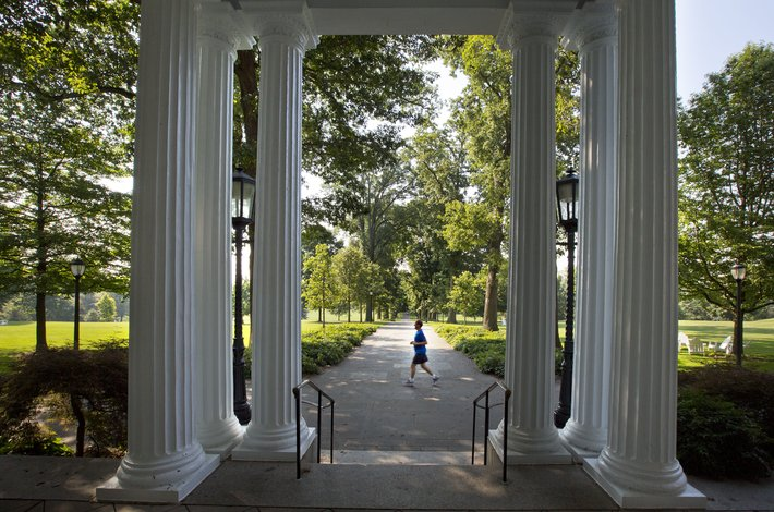 Columns of Parrish Hall porch