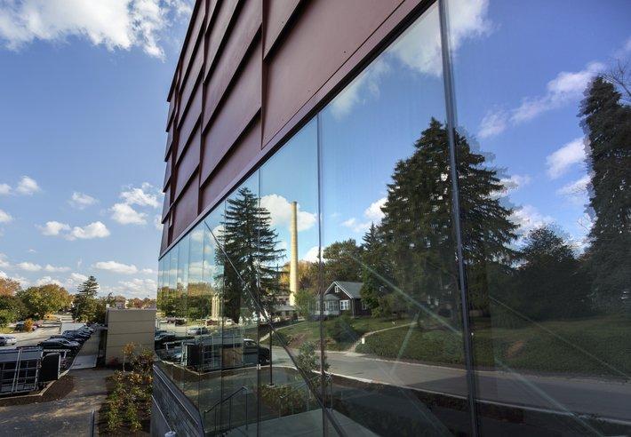 Matchbox window reflections