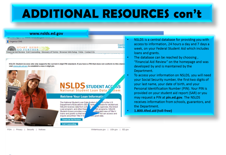 17th slide, studentloans.gov
