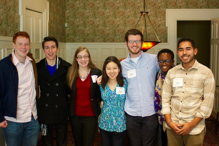 Student Philanthropy Council Members with Val Smith