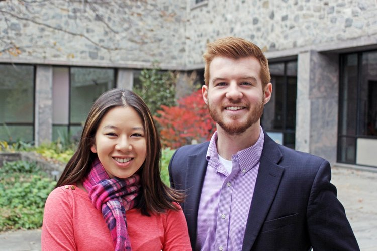 Sarah & Bobby, co-presidents of Student Philanthropy Council