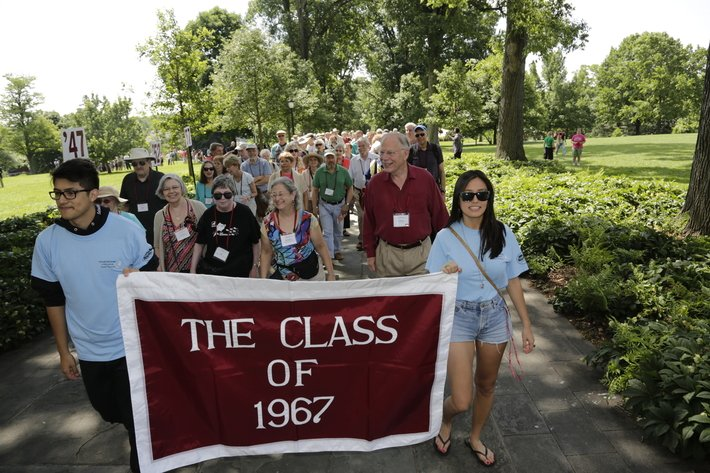 Class of 1967 in the Alumni Parade