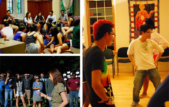 Intercultural Center students at different events