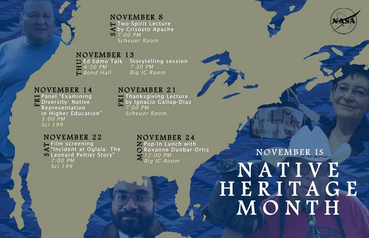Native Heritage Month calendar