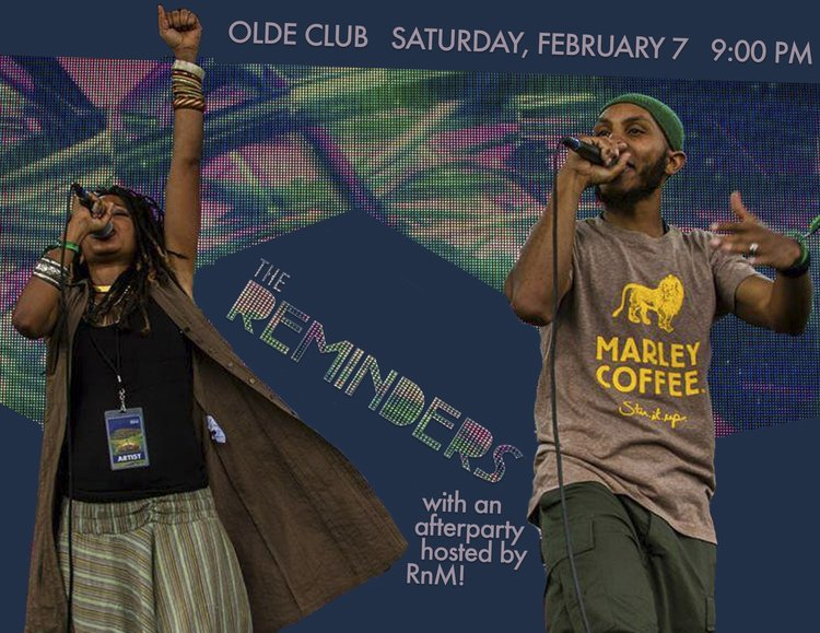 Advertisement for the Reminders performing in Olde Club