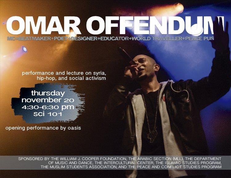 Omar Offendum flyer