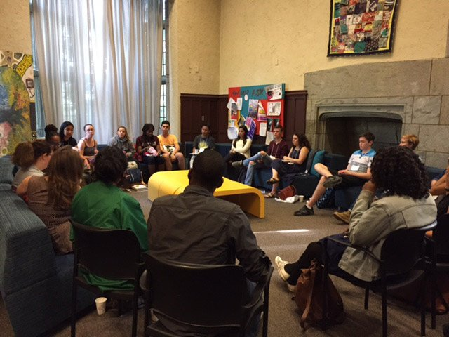 Students at a Mass Incarceration Discussion