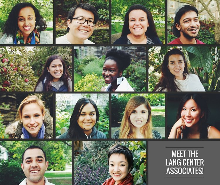 Headshots of Lang Center Associates