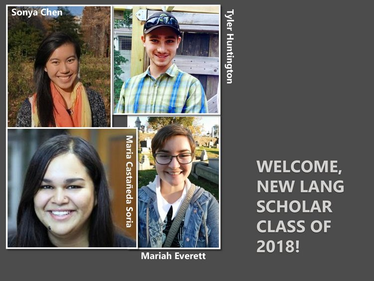 Headshots of new Lang Scholars
