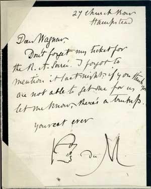 George Du Maurier's autograph