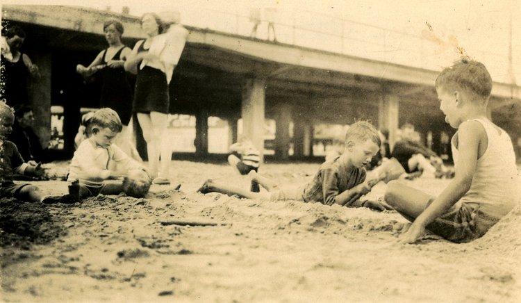 The Spencer Family in Ocean City, NJ circa 1927