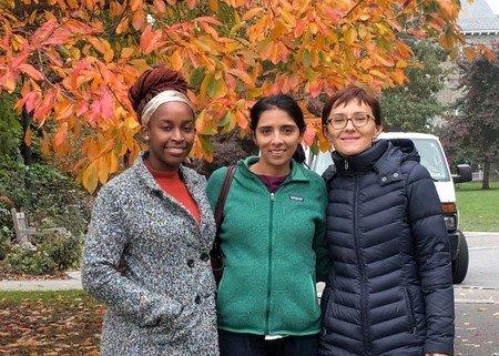 Samantha Nyovanie, Liliya Yatsunyk, & Dr. Mamta Tahiliani at Swarthmore.