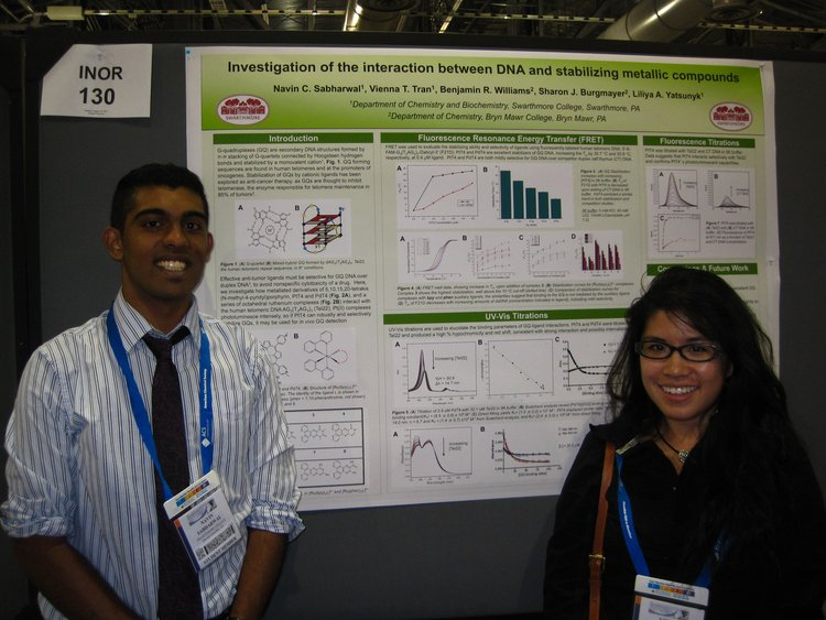 Navin and Vienna present their ACS poster