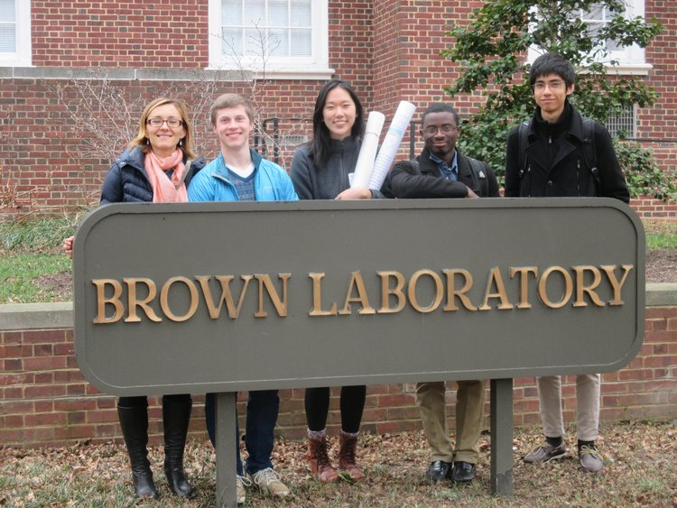 Liliya, Barrett, Alice, Deondre, and Sayed after the PIC-3 poster conference at the University of Delaware.