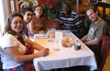 Lab lunch, August 2008