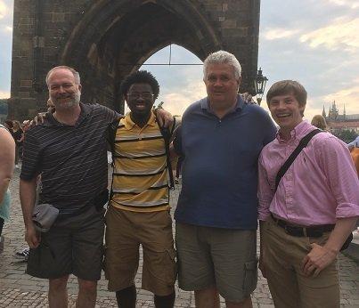 Dr. John Trent, Deondre Jordan, Dr. Brad Chaires, & Barrett Powell.