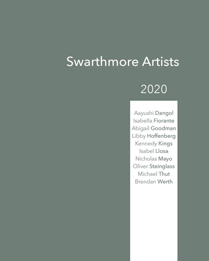 2020 Senior Thesis Exhibitions catalog