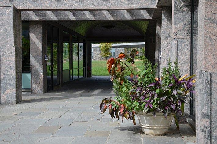 Kohlburg Hall with Garden Plants
