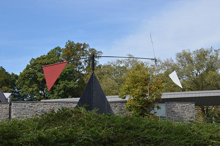 Wind Art outside of Kohlburg Hall