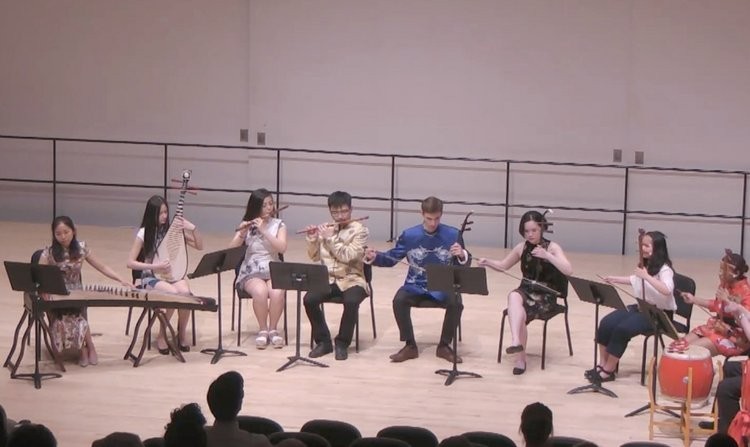 The Chinese Music Ensemble in performance