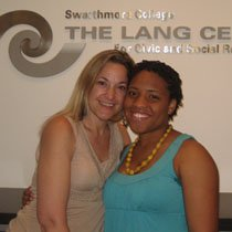 Deb Kardon-Brown and Marissa Davis '08