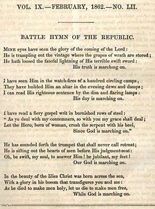 Battle Hymn of the Republic lyrics