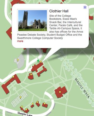 Swarthmore Campus Map New Interactive Campus Map Launches in Time for Move In Day