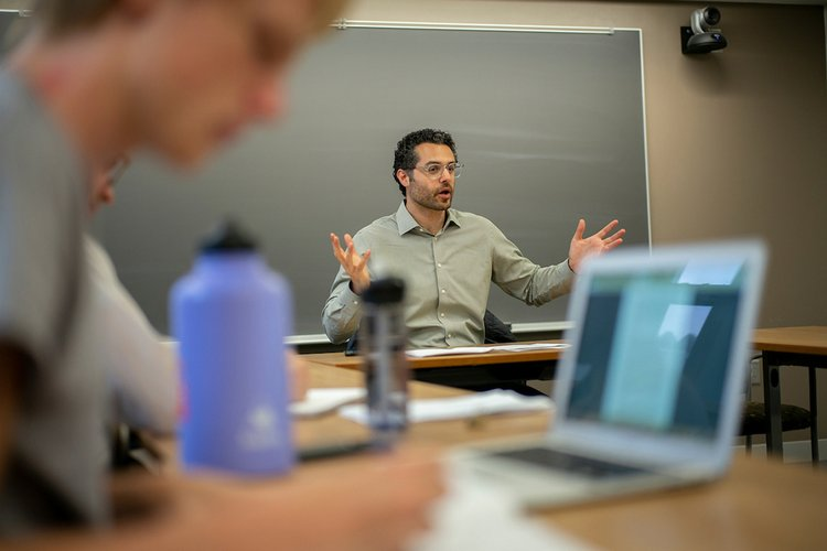 Professor Ahmad Shokr instructs a class