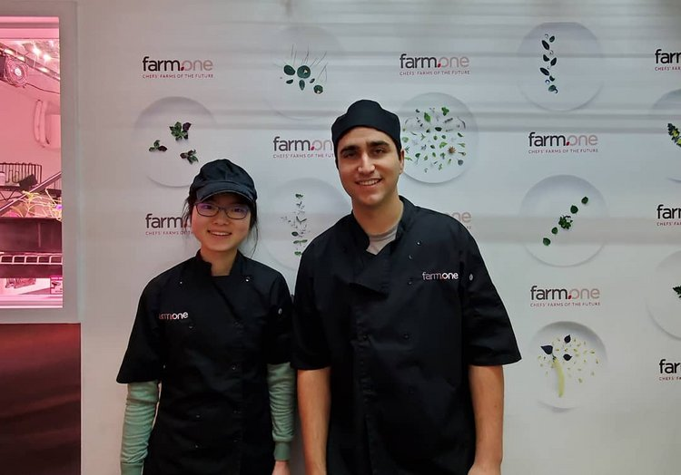 Jess Karol '16 hosted Elena Lee '23 at Farm.One, a startup that uses vertical farming to grow rare produce in Brooklyn.