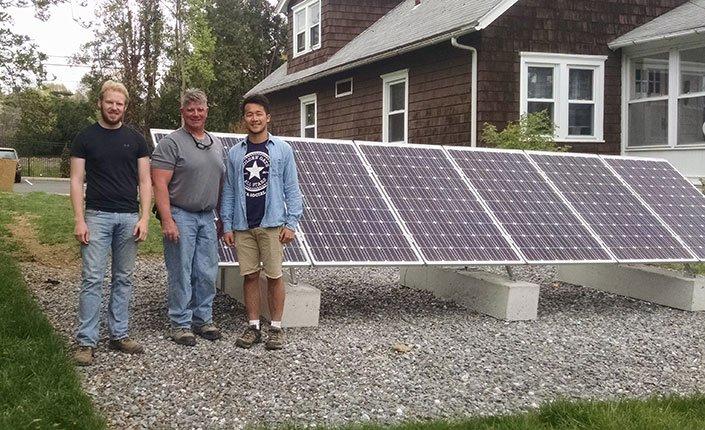 Erik Jensen '15, Ken McNeal, and Tony Lee '15