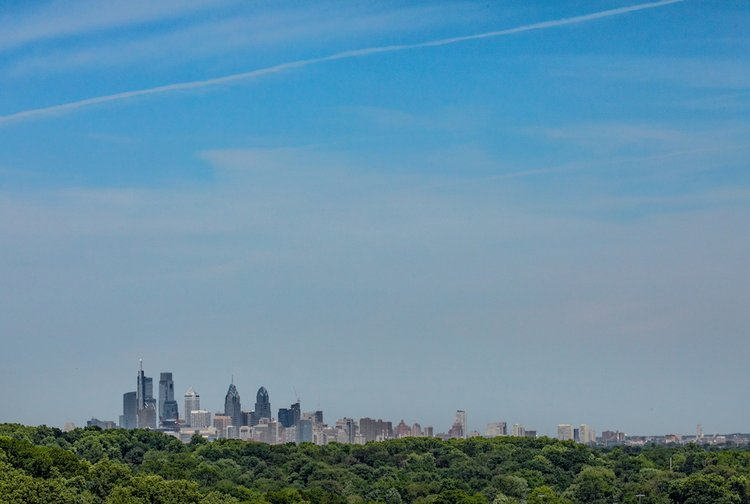 Philly skyline from Swarthmore