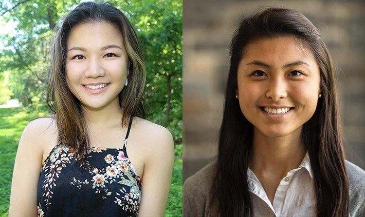 Christina Hui '18 and Xiaojing Zeng '19