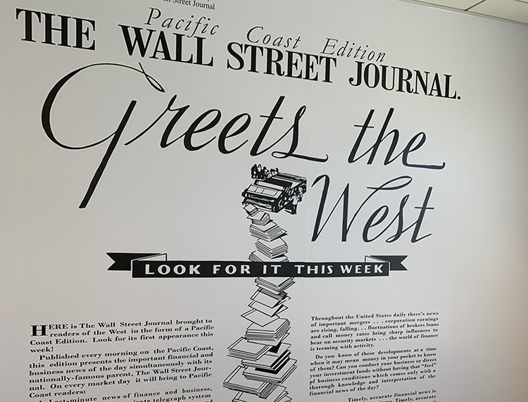 Exterior of Wall Street Journal Bulding