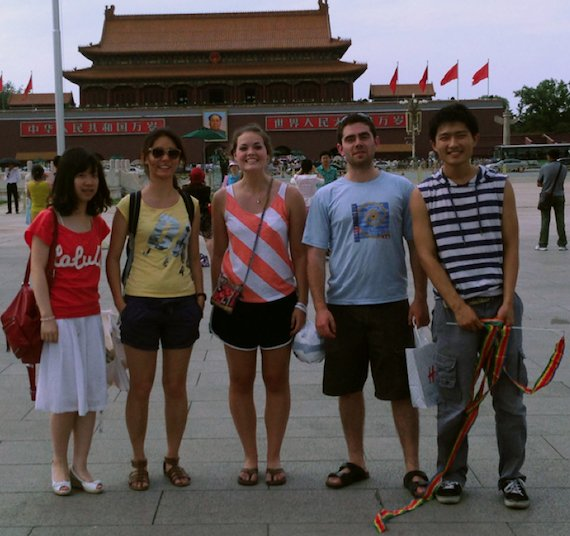 Students in Tiananmen Square
