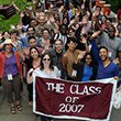 Members of the Class of 2007 begin their march in the Parade of Classes