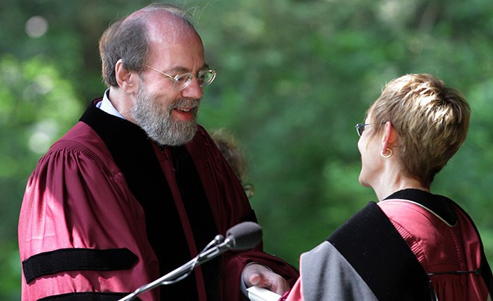 Judge Frank Easterbrook '70 H'12 receives an honorary Doctor of Laws degree at Swarthmore