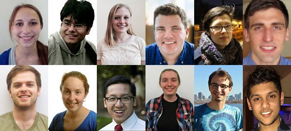 Collage of the 12 fellowship winners