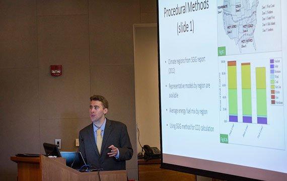 Hayden Dahmm '15 presents his research