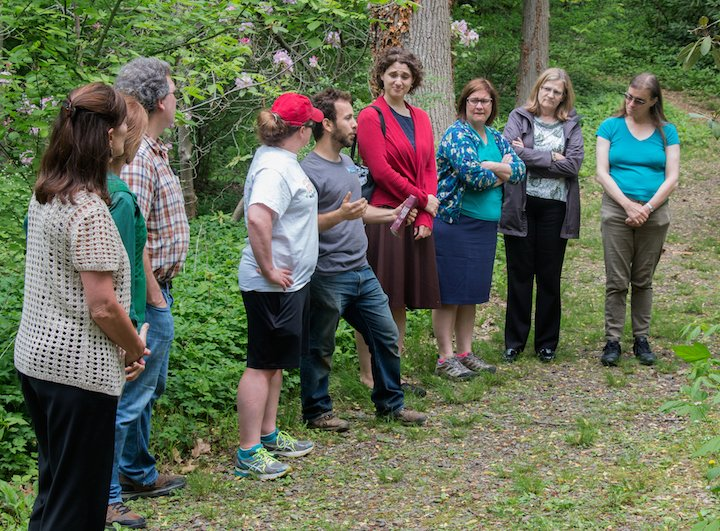 Mike Rolli guides group on mushroom walk