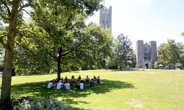 Students on Parrish Beach