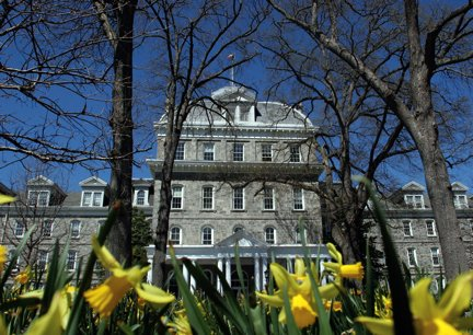 Parrish Hall in springtime