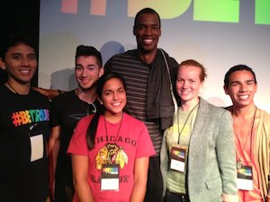Rose Pitkin with Jason Collins