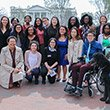 Students visit the White House