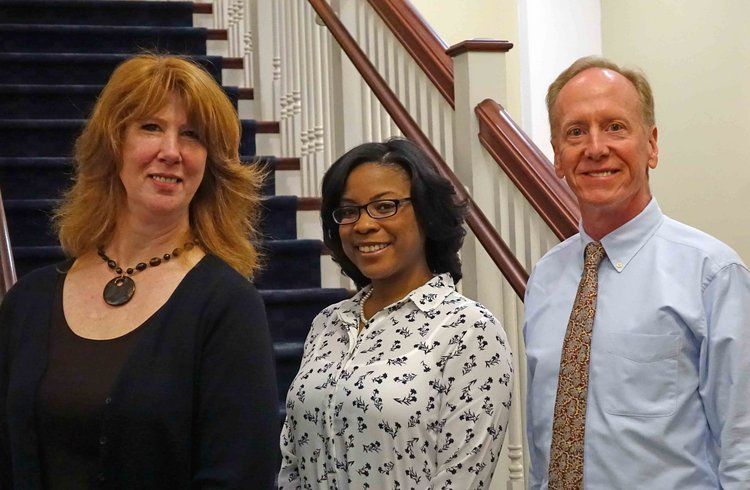 Registrar's Office staff photo.  Stacey Hogge, Lesa Shieber, Martin Warner.