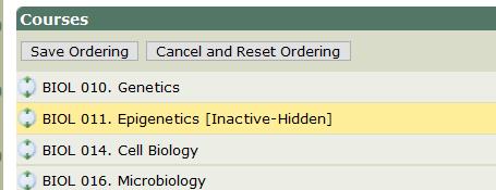re-order core courses