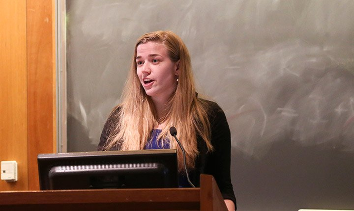 Sophie Miller '16 presents her senior project
