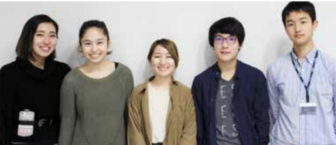 Five out of six members of the Ashoka Japan cohort visiting Swarthmore March 25th and 26th.