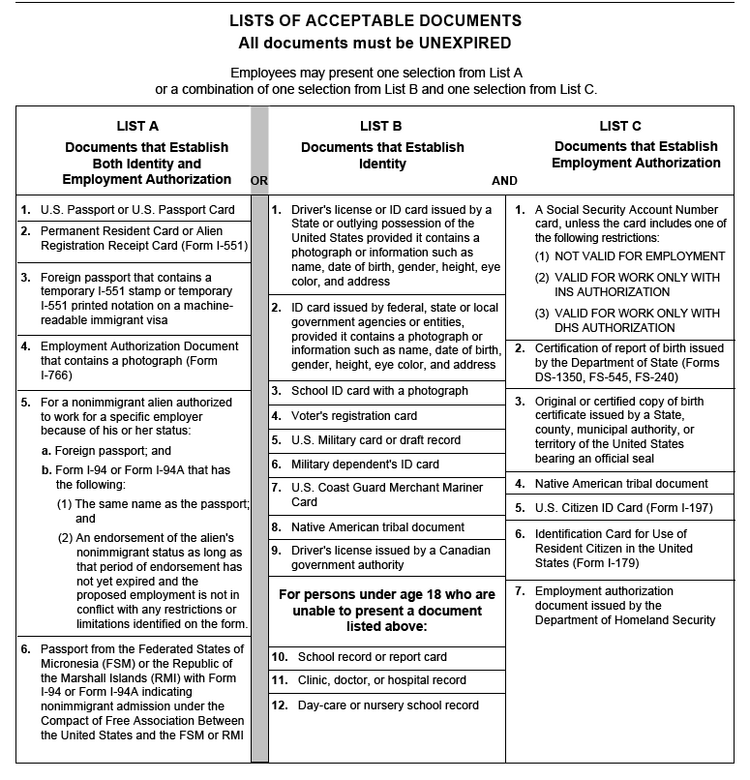 It is a photo of Printable I9 Form pertaining to section 2