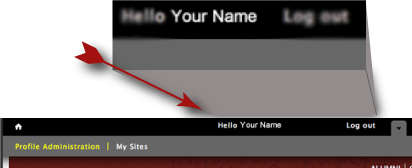 Access your profile by clicking on your name
