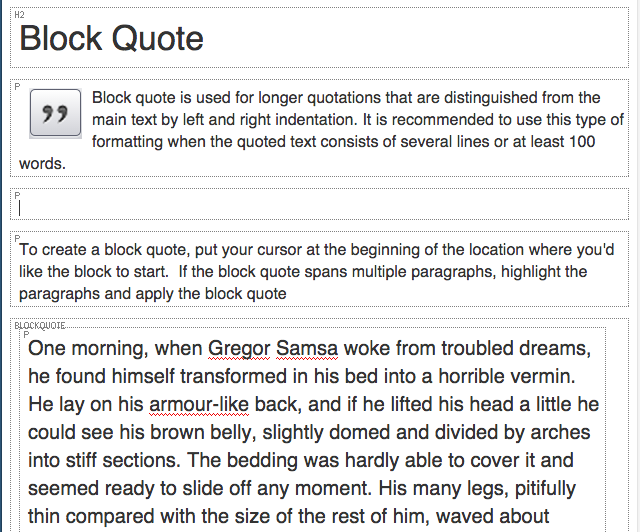 show blocks creates an outline of block elements on a page
